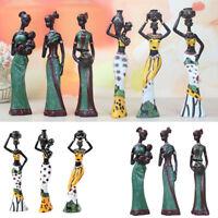 African Lady Women Ornament Tribal Figurines Figures Sculpture Statue 6-Set