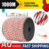 DAKEN 500M Electric Fence Poly Wire 2mm Diameter fence braid with steel AU Made