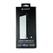 MOPHIE BATTERY POWER BANK ENCORE PLUS 20100MAH LIGHTNING MICRO USB CABLES 4074