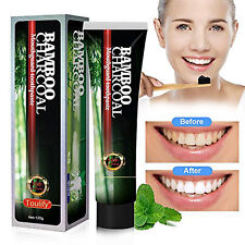 Activated Bamboo Charcoal Teeth Whitening Toothpaste Natural Black Stain Remover
