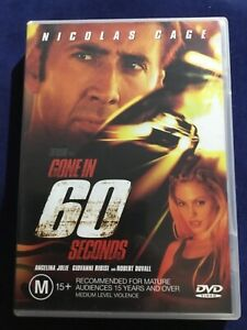 Gone in 60 Seconds - Region 4 DVD - Nicolas Cage - Great Condition - FREE POST