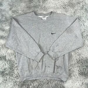 Vintage 1990's Nike Sportswear USA Gray Swoosh Check Crewneck Sweatshirt L