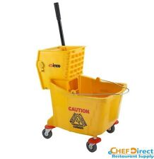 Winco MPB-36 36-Quart Plastic Yellow Mop Bucket with Wringer - FREE SHIPPING!!!