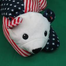 TY FOURTH OF JULY RED WHITE BLUE AMERICAN FLAG SPARKLER 1999 MWOT PLUSH TOY