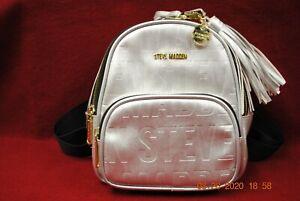 Steve Madden Mini Logo Backpack, Silver ♡ Unused ♡
