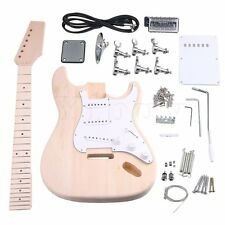6 String SSS DIY Unfinished Electric Guitar Builder Kit With All Parts