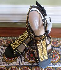 Kurt Geiger London CARVELA Gladiator Studded Black Leather Sandals Shoes 5 RARE