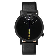 "Projects Watches ""Past, Present, Future Black"" Acero Inox Negro Reloj Unisex"