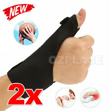 2X Medical Thumb Stabilizer Wrist Splint Brace Support Sprain Arthritis Pain