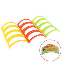 12x Taco Holder Mexican Food Wave Shape Hard Rack Stand Kitchen  MF