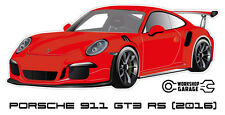 New! Collectable Sticker Porsche 911 GT3 RS 2016 RED