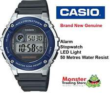 AUSSIE SELER CASIO GENTS W-216H-2AVD 50 METRES WATER RESIST 12-MONTH WARRANTY