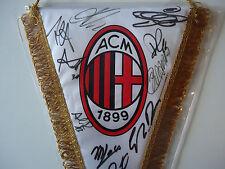 Milan Gagliardetto Pennant Signed Locatelli Donnarumma Romagnoli Antonelli Bacca