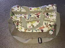 LN Tokidoki for LeSportSac Amica Moda Beige Printed Small Duffel Bag w/Keychain