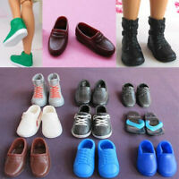 5pairs Plastic Boots Shoes Flat Sports Sneakers For Ken dolls