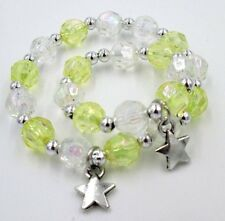 """Matching bracelets girl and 18"""" doll jewelry accessory yellow star charm"""