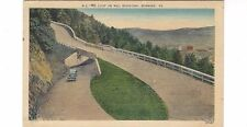 1930's postcard-The Loop on Mill Mountain, Roanoke, VA, mailed in 1990