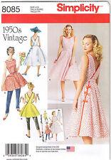 Vtg 50s Rockabilly Wrap Dress Top Sleeveless Ties Sewing Pattern Sz 6 8 10 12 14