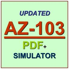Latest AZ-103 Verified Practice Test Exam QA SIM PDF+Simulator