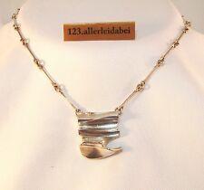 Glanzvolles Lapponia Collier 925 er Silber Finnland 1983 Kette Modernist /AN 333