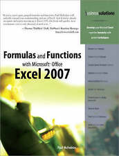 NEW Formulas and Functions with Microsoft Office Excel 2007 by Paul McFedries