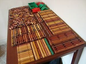 """Lincoln Logs HUGE Lot 361 Pieces """"My Best of the Worst Collection"""""""