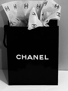 NEW Chanel Shopping Gift Bag + 1 pc Tissue Paper  AUTHENTIC