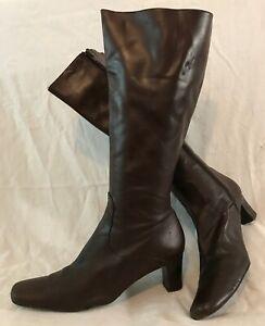 L.K.Bennett Brown Knee High All Leather Lovely Boots Size 39 (706vv)