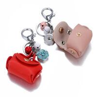 Fashion Leather bag rhinestone alloy Snap Keychain Fit 18mm Noosa snap button