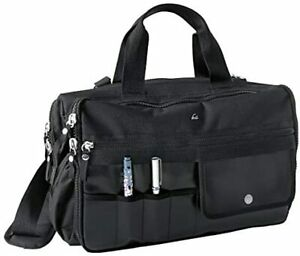 KOI Medical Unisex Nurse Bag Black Light Weight Water Resistant Padded Shoulder