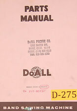Doall 2013-2 & 2013-20, Vertical Contour Saw, Parts and Illustrations Manual