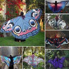 Dame De Femmes Long Papillon Wing Cape Souple Écharpe Foulard Châle Enveloppant
