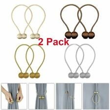 2Pcs Magnetic Ball Curtain Buckle Holder Tieback Clips Window Accessories U.S.A