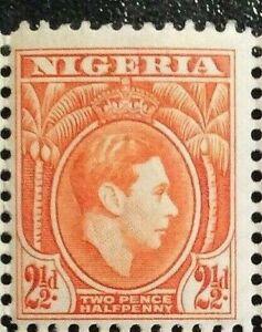 NIGERIA 1941 SG52b. 2½d. KGVI ORANGE DEFINITIVE -  MNH
