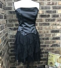 jessica mcclintock women's dress size 4 Black Sexy Tulle Gorgeous mini BF
