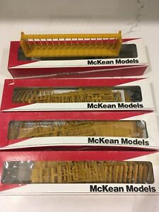 LOT 4 HO McKean 60' Center beam Flat Car Union Pacific UP 1753 Open 1702 Oval