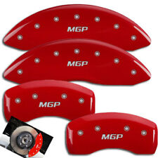 "2009-2017 Mitsubishi Lancer Front + Rear Red ""MGP"" Brake Disc Caliper Covers 4pc"