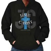 Jesus Christ Christian Religious Bible Believe Faith God Hooded Sweatshirt