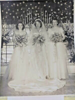 Vintage Wedding Photograph Bride & Bridesmaids ~ Ships FREE