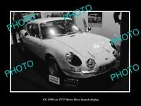 OLD LARGE HISTORIC PHOTO OF CG 1300 CAR 1973 MOTOR SHOW LAUNCH DISPLAY