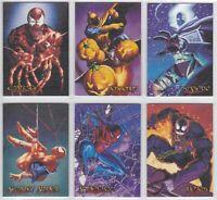 1996 Skybox Fleer Marvel Spider-Man Premium Canvas Card You Pick Finish Your Set