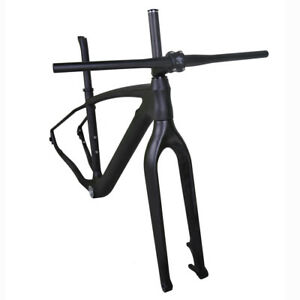 Carbon Mountain Bike Frame 29er Hardtrail MTB Frameset Thru Axle QR BB30 UD Matt