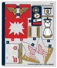 LEGO DC Super Hero Girls WONDER WOMAN DORM~ Replacement STICKER SHEET Set 41235