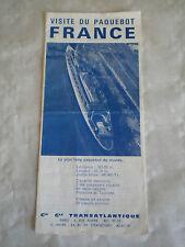 Ephemera Ocean liner CGT SS France Visit brochure deckplan