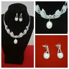 WOMEN JEWELRY SET  CRYSTAL  RHINESTONE Bib Necklace Chain Jewelry