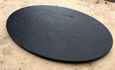 Couchtischplatte Esstischplatte Naturstein Schiefer Natur schwarz oval schwarz