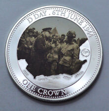 RARE 2014 Canada One Crown D-Day 6th June 1944 70th Ann. TDC Mint Silver-Plated!