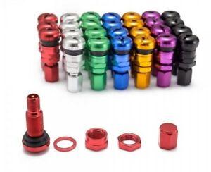 Tyre Valve Aluminium Stem Kit Set (4 Pack) Anodized