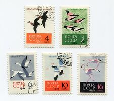 Russia-#2683-2687--Birds-used-hinged--1962