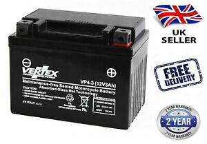 Vertex VP4-3 (YTX4L-BS) Sealed Battery fits KTM SM 125, STING 125, LC2 125